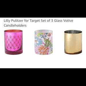 Lilly Pulitzer 3 pc Candle Set